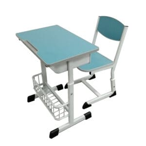 somgle classroom desk and chair